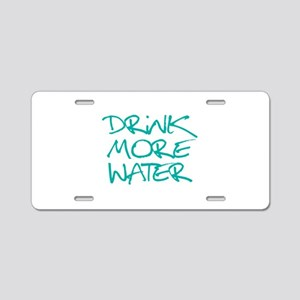Drink More Water_Blue2 Aluminum License Plate