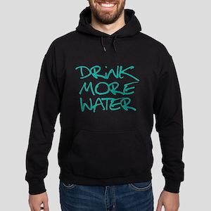 Drink More Water_Blue2 Hoodie (dark)