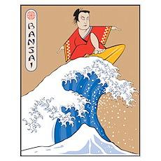 Bansai Surfer Poster