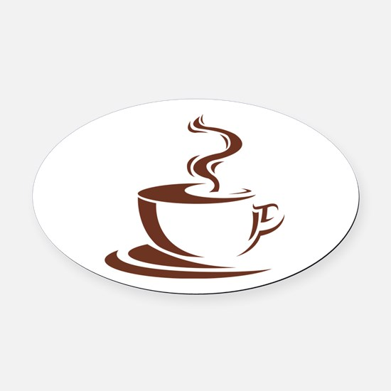 coffee Oval Car Magnet
