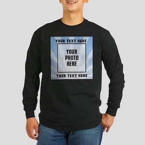 Personalized Sports Long Sleeve Dark T-Shirt