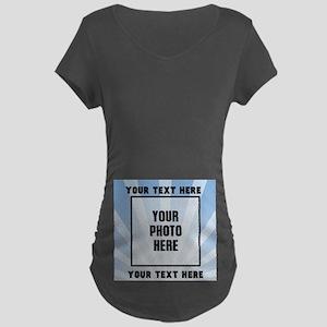 Personalized Sports Maternity Dark T-Shirt