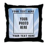 Photo text Cotton Pillows