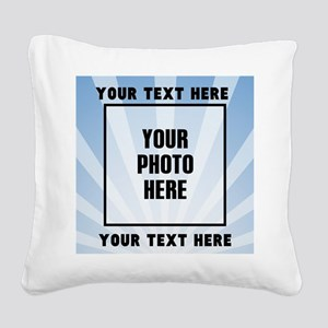 Personalized Sports Square Canvas Pillow