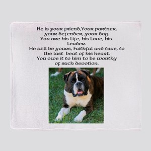 Boxer - Are you worthy? Throw Blanket
