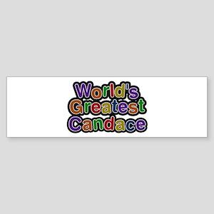 World's Greatest Candace Bumper Sticker