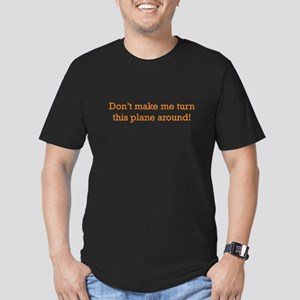 Turn this Plane Men's Fitted T-Shirt (dark)