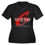 Sixth Man Women's Plus Size V-Neck Dark T-Shirt