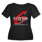 Sixth Man Women's Plus Size Scoop Neck Dark T-Shir