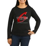 Sixth Man Women's Long Sleeve Dark T-Shirt