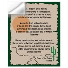 Prayer Of The Cowboy Wall Decal
