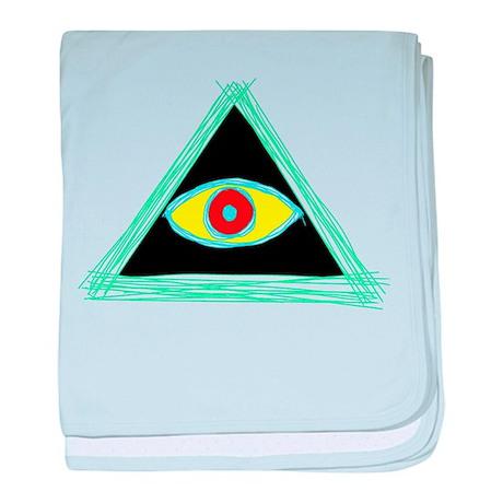 Badass Illuminati baby blanket