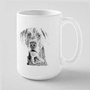 Weim Sketch Large Mug