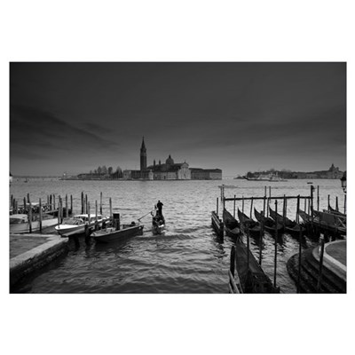 Rush Hour in Early Morning Venice Canvas Art