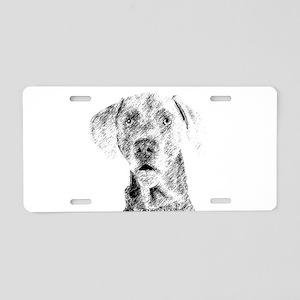 Weim Sketch Aluminum License Plate