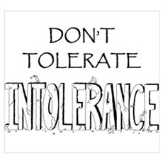 Don't Tolerate Intolerance Poster