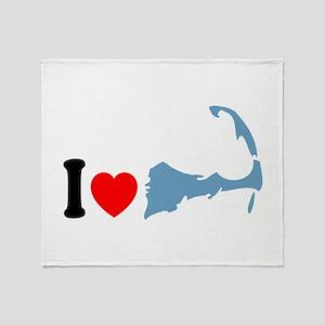 Cape Cod MA - I Love Cape Cod. Throw Blanket