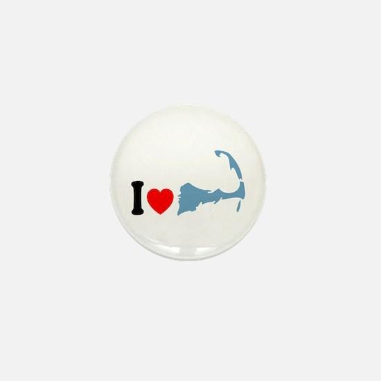 Cape Cod MA - I Love Cape Cod. Mini Button