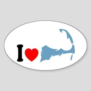 Cape Cod MA - I Love Cape Cod. Sticker (Oval)