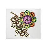 Snake bonji Throw Blanket