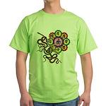 Snake bonji Green T-Shirt