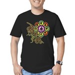 Snake bonji Men's Fitted T-Shirt (dark)