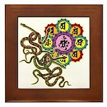 Snake bonji Framed Tile