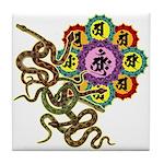 Snake bonji Tile Coaster