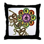 Snake bonji Throw Pillow