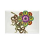 Snake bonji Rectangle Magnet