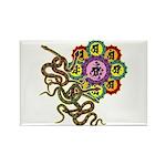 Snake bonji Rectangle Magnet (10 pack)