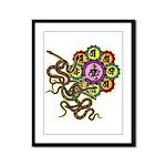 Snake bonji Framed Panel Print