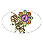 Snake bonji Sticker (Oval)
