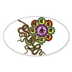 Snake bonji Sticker (Oval 10 pk)