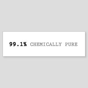 '99.1% Chemically Pure' Sticker (Bumper)