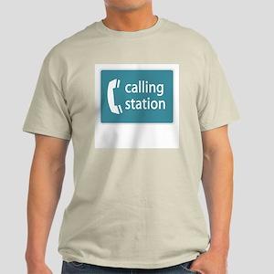 """Calling Station"" Light Color T-Shirt"