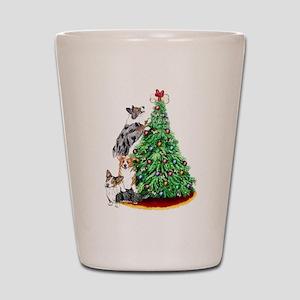 Corgi Christmas Shot Glass