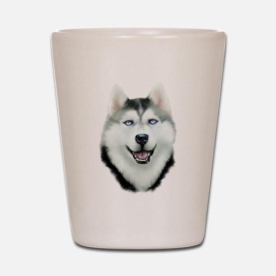 Siberian Husky Shot Glass