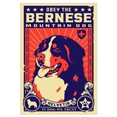 Obey the Bernese Mountain Dog! Canvas Art
