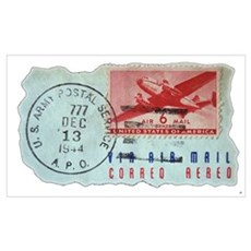 World War Two Air Mail Poster