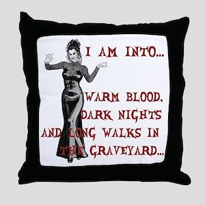 I am into...Lady Vampire Throw Pillow