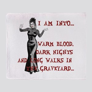 I am into...Lady Vampire Throw Blanket