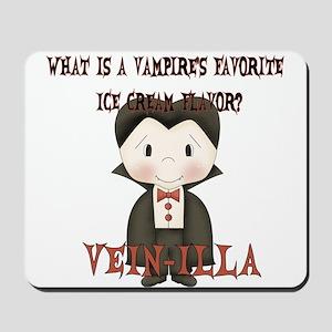 Little Vampire Halloween Joke Mousepad