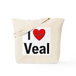 I Love Veal Tote Bag