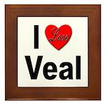 I Love Veal Framed Tile