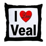 I Love Veal Throw Pillow