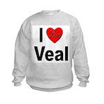 I Love Veal (Front) Kids Sweatshirt