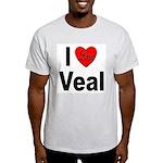I Love Veal (Front) Ash Grey T-Shirt