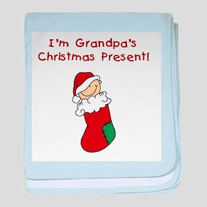 Grandpa's Christmas Present baby blanket