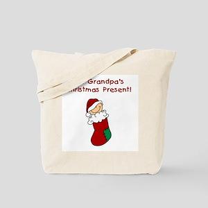 Grandpa's Christmas Present Tote Bag
